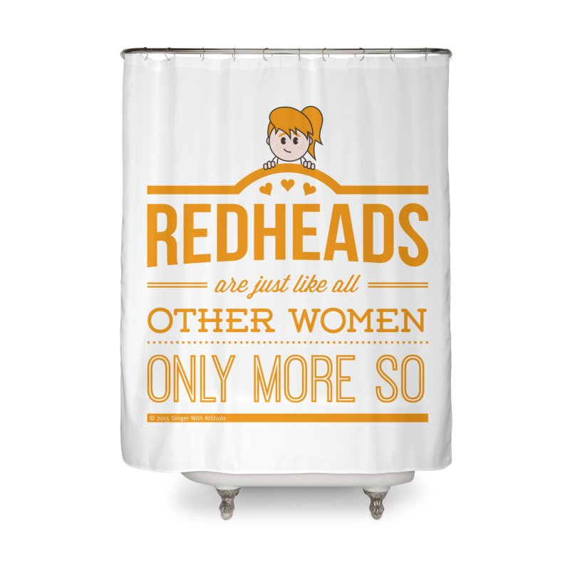 More So Home Shower Curtain by Ginger With Attitude's Artist Shop