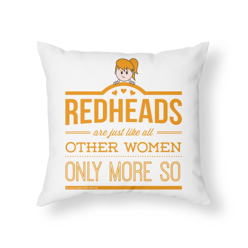 More So Home Throw Pillow by Ginger With Attitude's Artist Shop