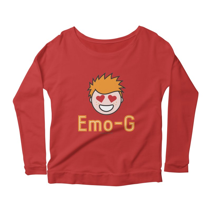 Emo-G Women's Longsleeve Scoopneck  by Ginger With Attitude's Artist Shop