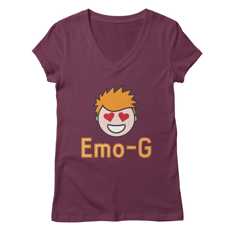 Emo-G Women's V-Neck by Ginger With Attitude's Artist Shop