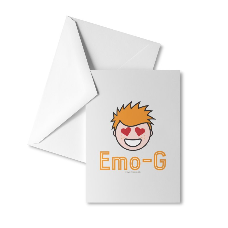 Emo-G Accessories Greeting Card by Ginger With Attitude's Artist Shop