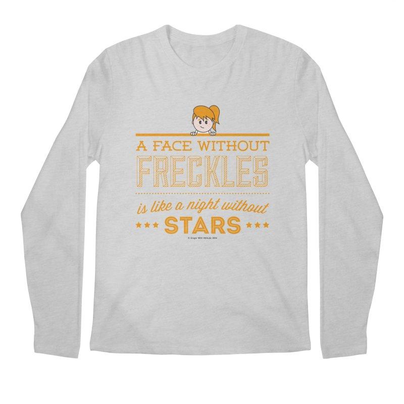 Stars Men's Regular Longsleeve T-Shirt by Ginger With Attitude's Artist Shop