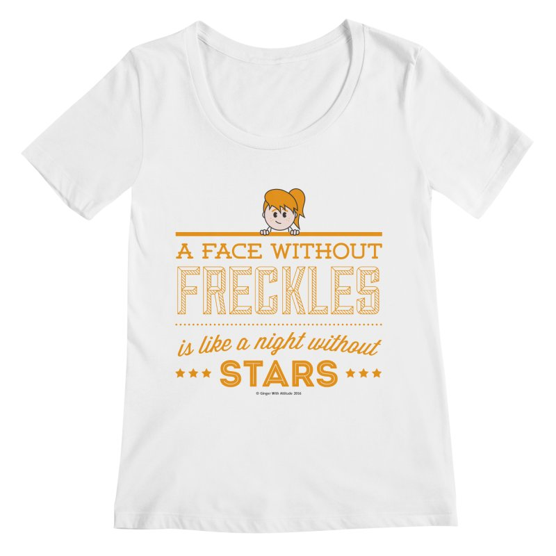 Stars Women's Regular Scoop Neck by Ginger With Attitude's Artist Shop