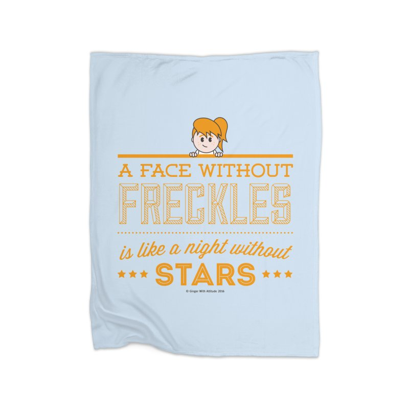 Stars Home Fleece Blanket Blanket by Ginger With Attitude's Artist Shop
