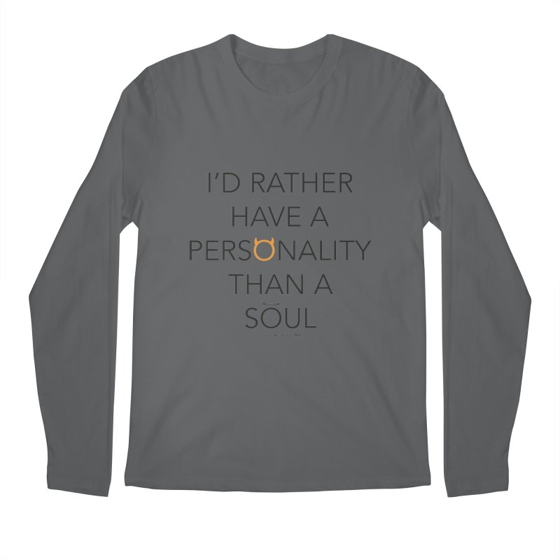 Personality vs Soul Men's Regular Longsleeve T-Shirt by Ginger With Attitude's Artist Shop