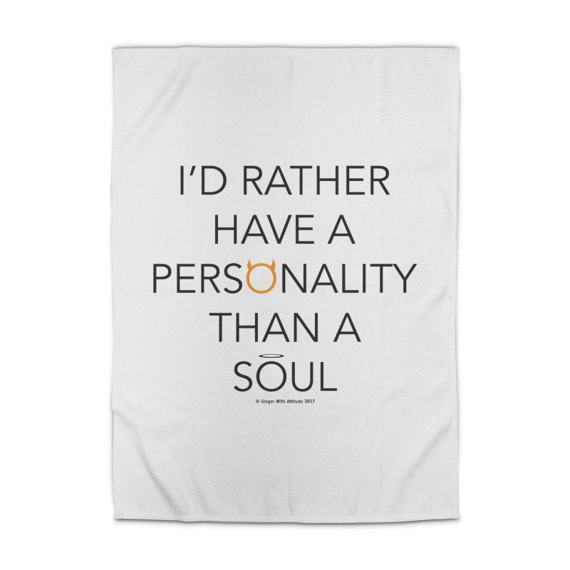 Personality vs Soul Home Rug by Ginger With Attitude's Artist Shop