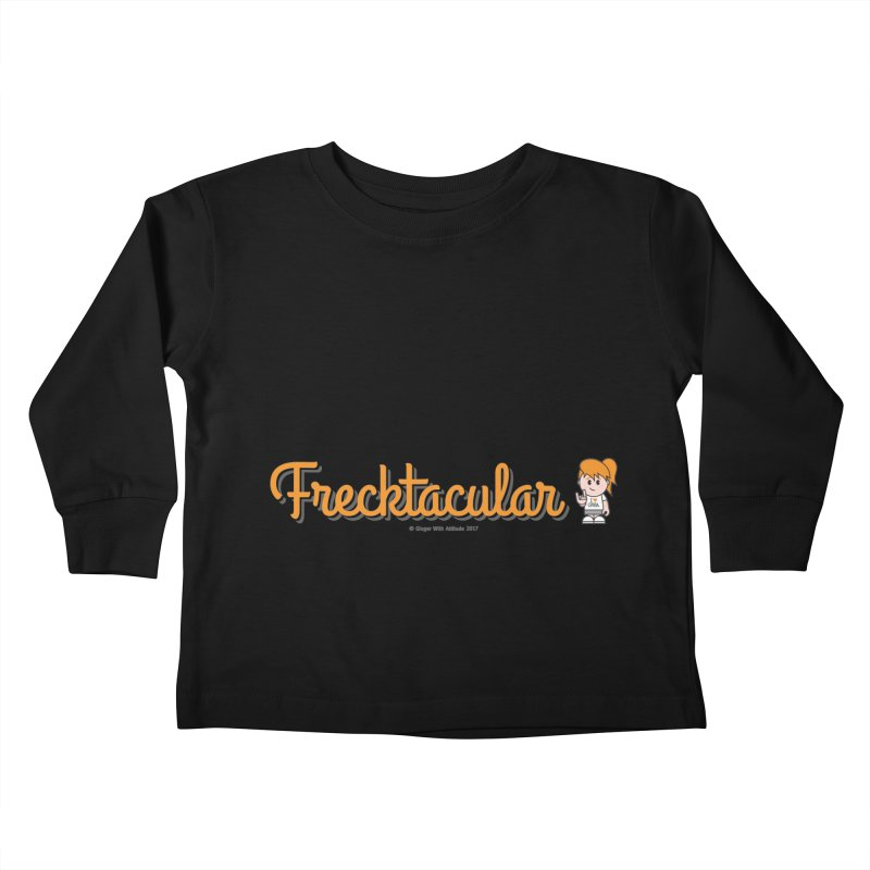 Frecktacular Girl Kids Toddler Longsleeve T-Shirt by Ginger With Attitude's Artist Shop