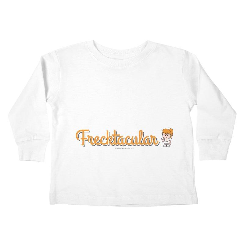 Frecktacular Girl Kids Toddler Longsleeve T-Shirt by Ginger With Attitude's Artist Shop