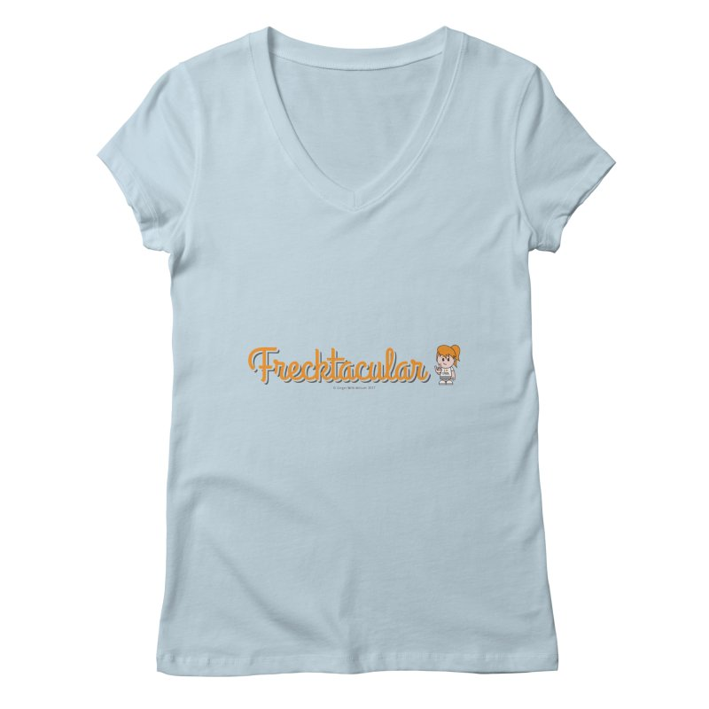 Frecktacular Girl Women's V-Neck by Ginger With Attitude's Artist Shop