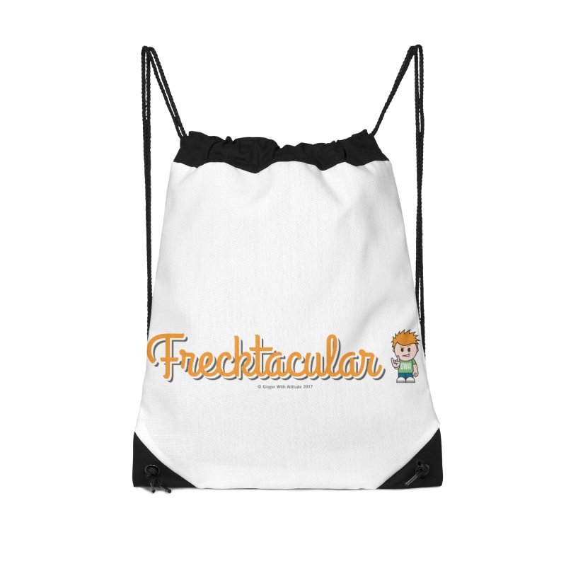 Frecktacular Guy Accessories Drawstring Bag Bag by Ginger With Attitude's Artist Shop