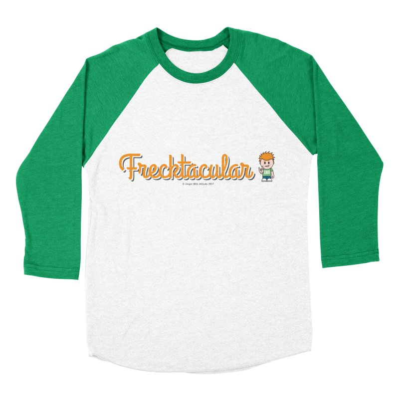 Frecktacular Guy Men's Baseball Triblend Longsleeve T-Shirt by Ginger With Attitude's Artist Shop