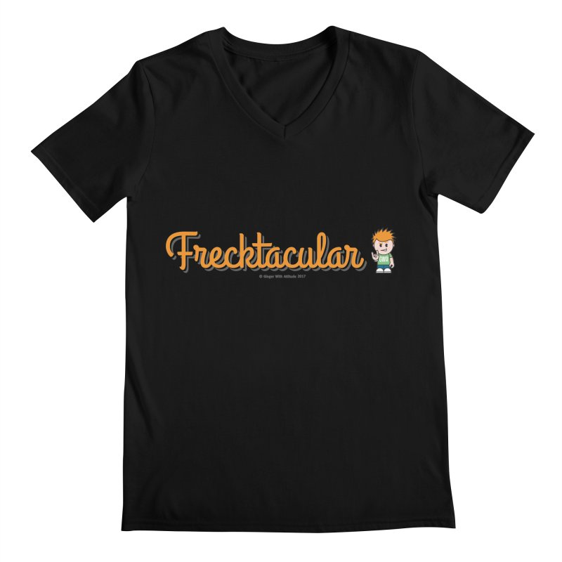 Frecktacular Guy Men's Regular V-Neck by Ginger With Attitude's Artist Shop