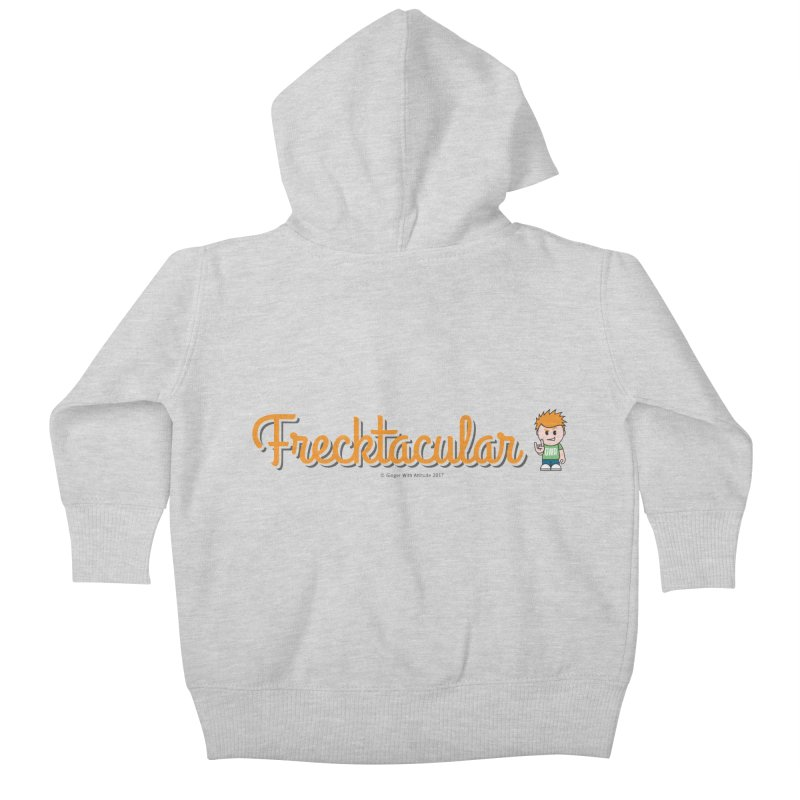 Frecktacular Guy Kids Baby Zip-Up Hoody by Ginger With Attitude's Artist Shop