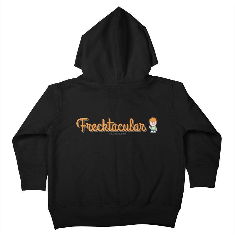 Frecktacular Guy Kids Toddler Zip-Up Hoody by Ginger With Attitude's Artist Shop