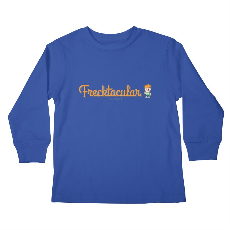 Frecktacular Guy Kids Longsleeve T-Shirt by Ginger With Attitude's Artist Shop