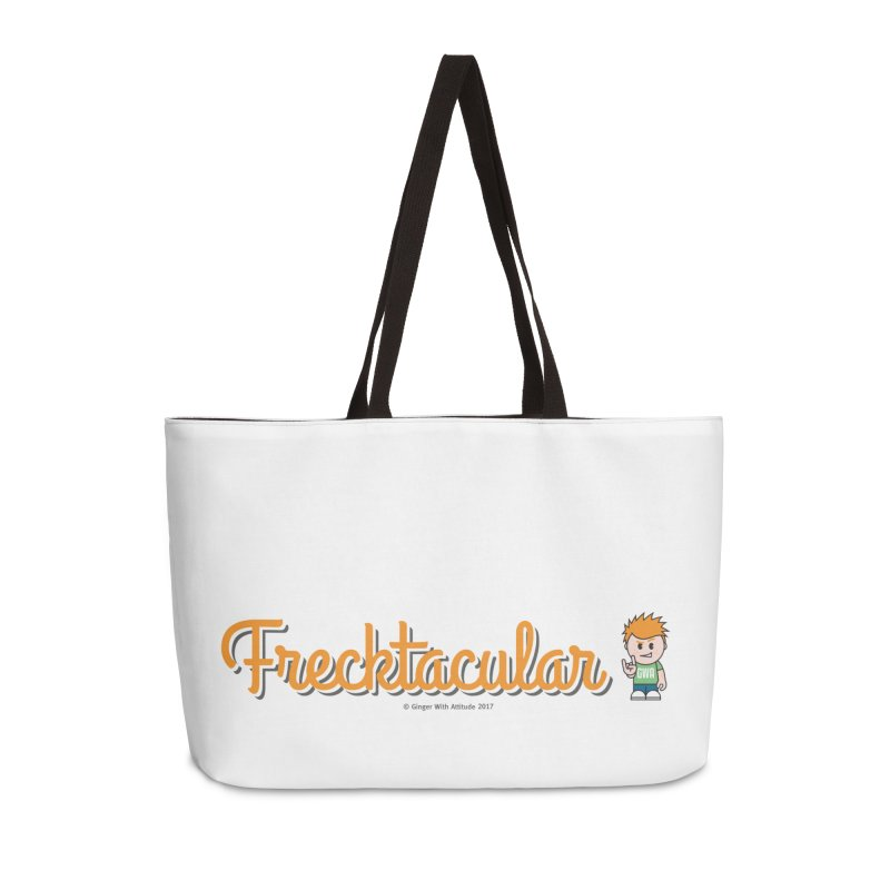 Frecktacular Guy Accessories Weekender Bag Bag by Ginger With Attitude's Artist Shop
