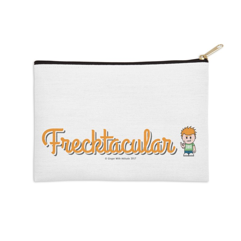 Frecktacular Guy Accessories Zip Pouch by Ginger With Attitude's Artist Shop
