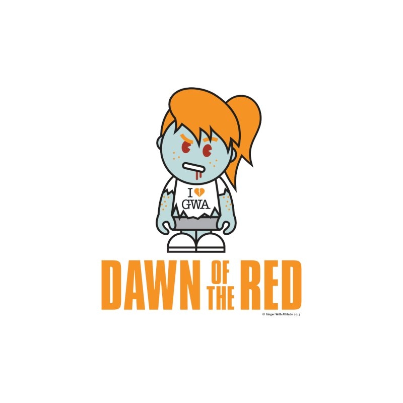 Dawn of The Red Women's V-Neck by Ginger With Attitude's Artist Shop