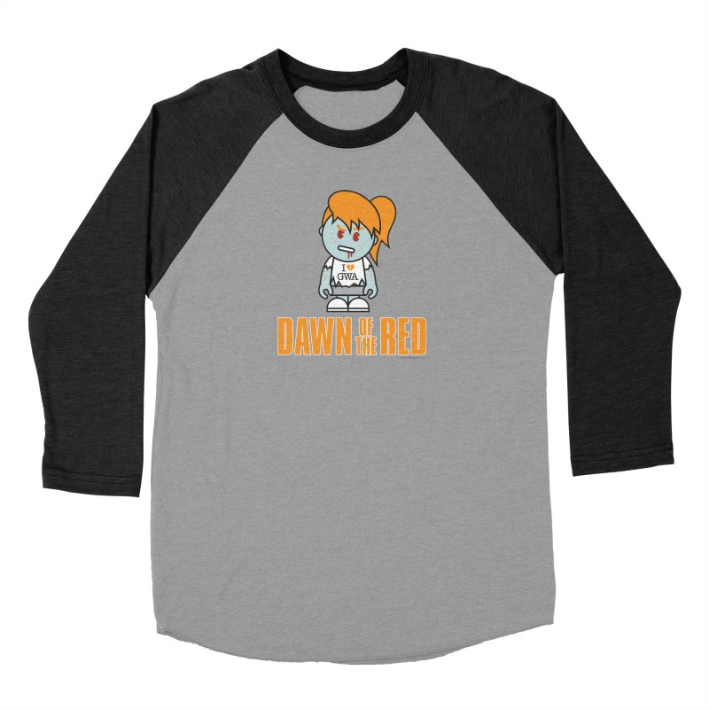 Dawn of The Red Men's Baseball Triblend T-Shirt by Ginger With Attitude's Artist Shop