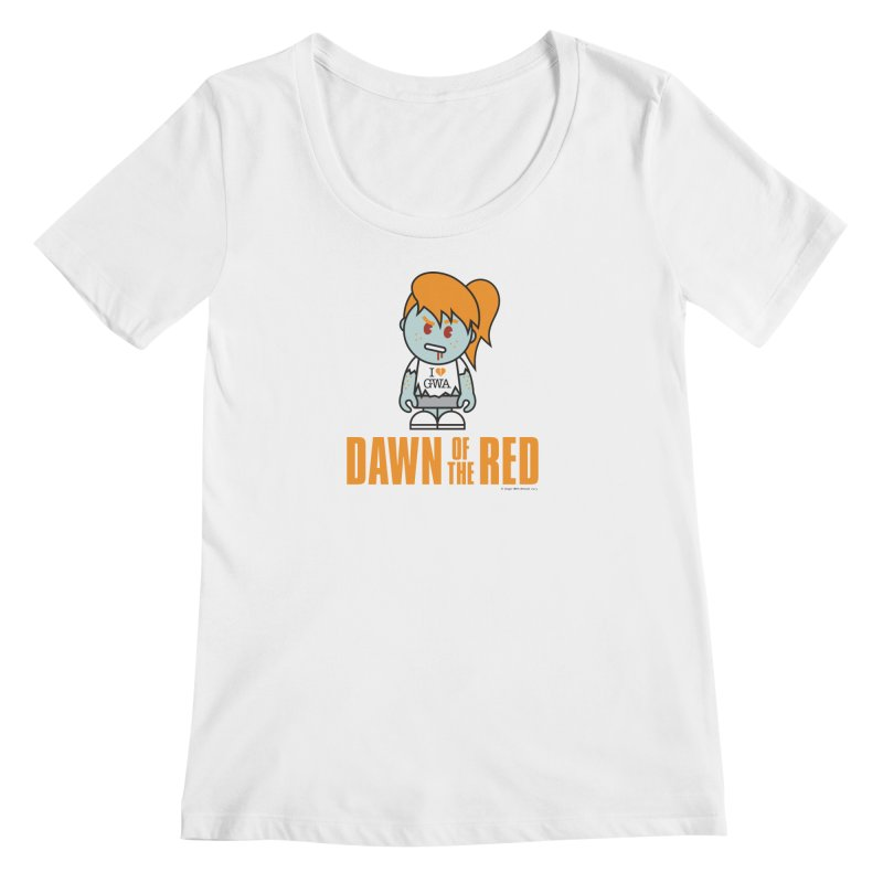Dawn of The Red Women's Regular Scoop Neck by Ginger With Attitude's Artist Shop