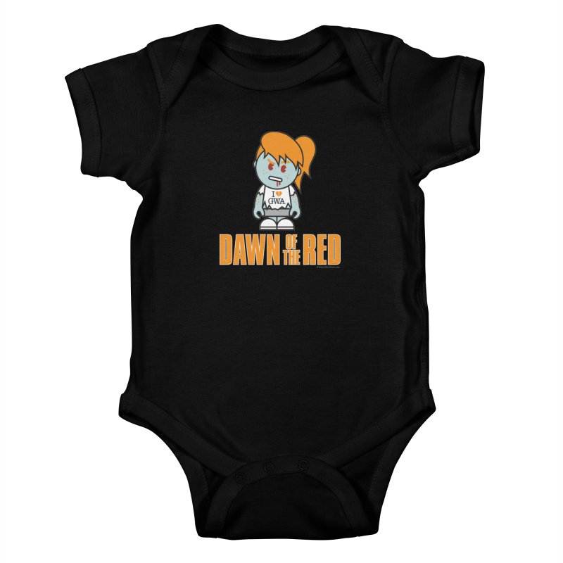 Dawn of The Red Kids Baby Bodysuit by Ginger With Attitude's Artist Shop