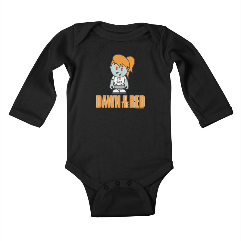 Dawn of The Red Kids Baby Longsleeve Bodysuit by Ginger With Attitude's Artist Shop