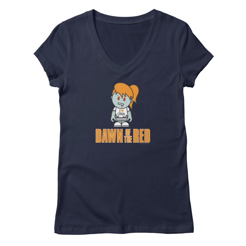 Dawn of The Red Women's Regular V-Neck by Ginger With Attitude's Artist Shop