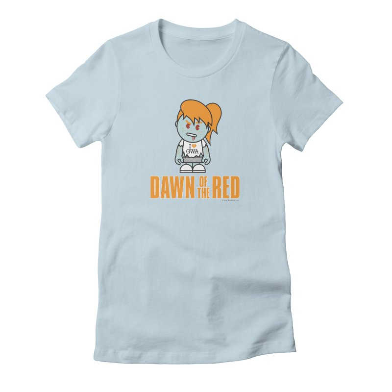 Dawn of The Red Women's Fitted T-Shirt by Ginger With Attitude's Artist Shop
