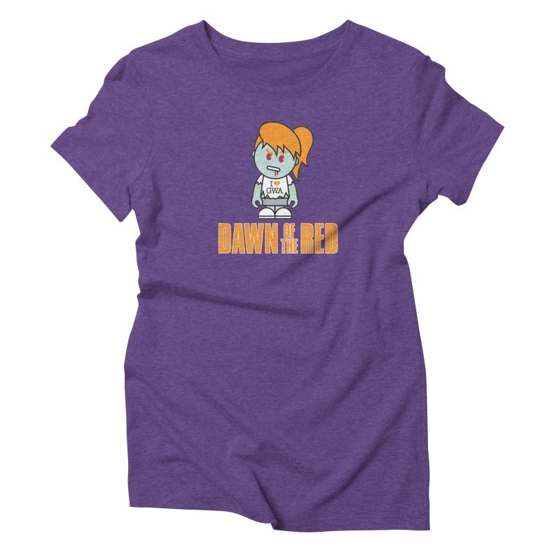 Dawn of The Red Women's Triblend T-Shirt by Ginger With Attitude's Artist Shop