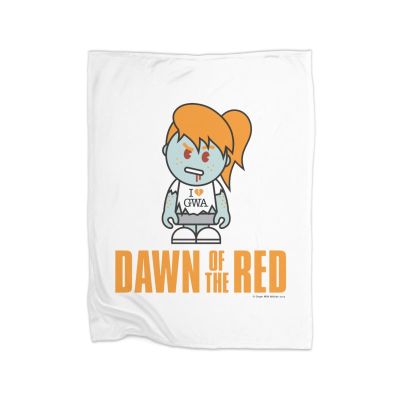 Dawn of The Red Home Fleece Blanket Blanket by Ginger With Attitude's Artist Shop