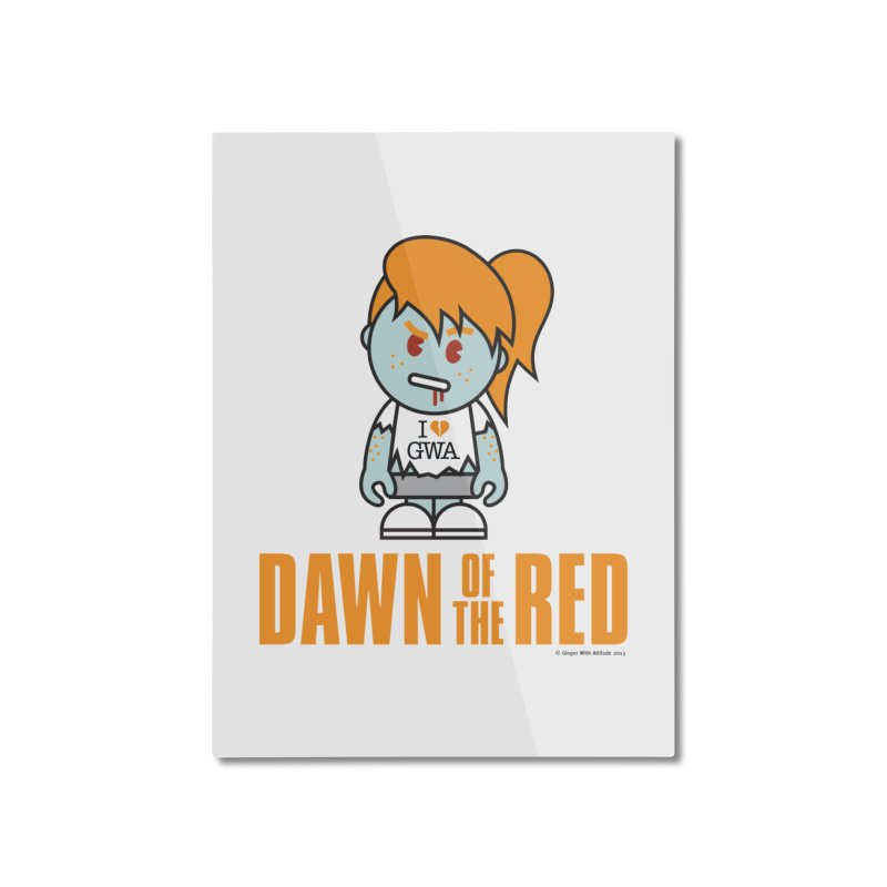 Dawn of The Red Home Mounted Aluminum Print by Ginger With Attitude's Artist Shop