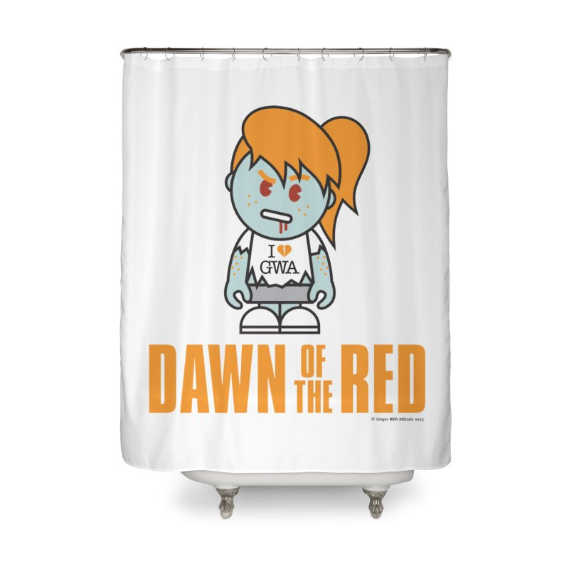 Dawn of The Red Home Shower Curtain by Ginger With Attitude's Artist Shop