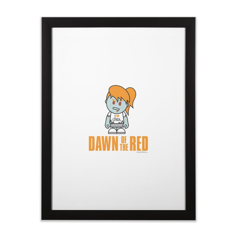 Dawn of The Red Home Framed Fine Art Print by Ginger With Attitude's Artist Shop