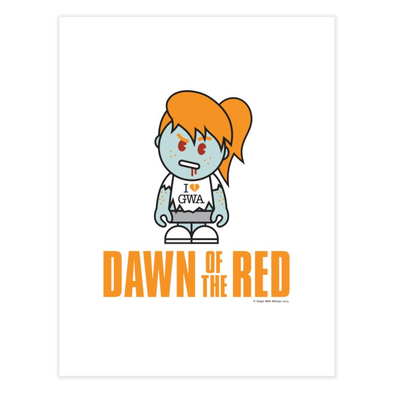 Dawn of The Red Home Fine Art Print by Ginger With Attitude's Artist Shop