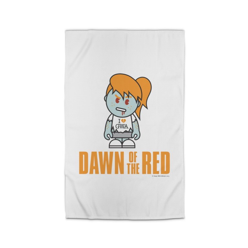 Dawn of The Red Home Rug by Ginger With Attitude's Artist Shop