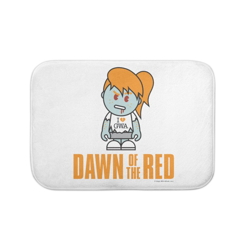 Dawn of The Red Home Bath Mat by Ginger With Attitude's Artist Shop