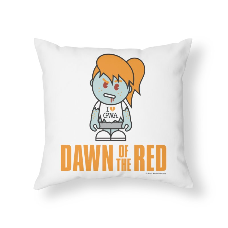 Dawn of The Red Home Throw Pillow by Ginger With Attitude's Artist Shop