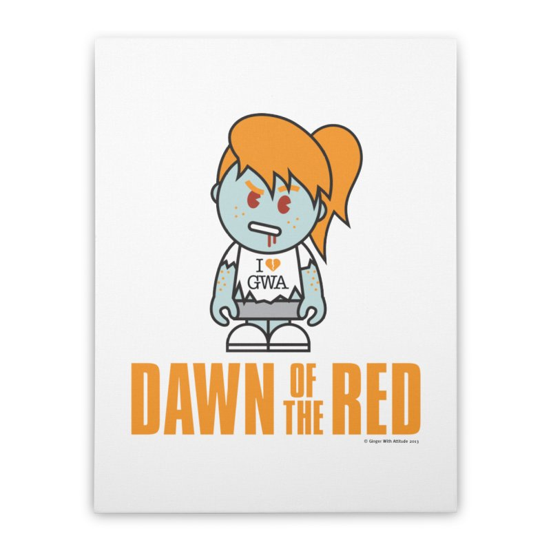 Dawn of The Red Home Stretched Canvas by Ginger With Attitude's Artist Shop