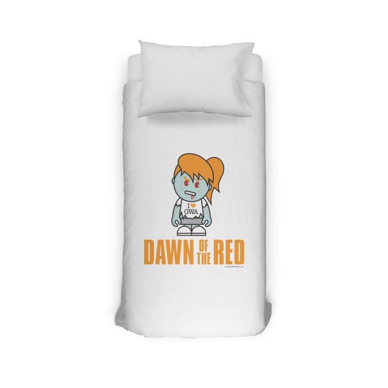 Dawn of The Red Home Duvet by Ginger With Attitude's Artist Shop