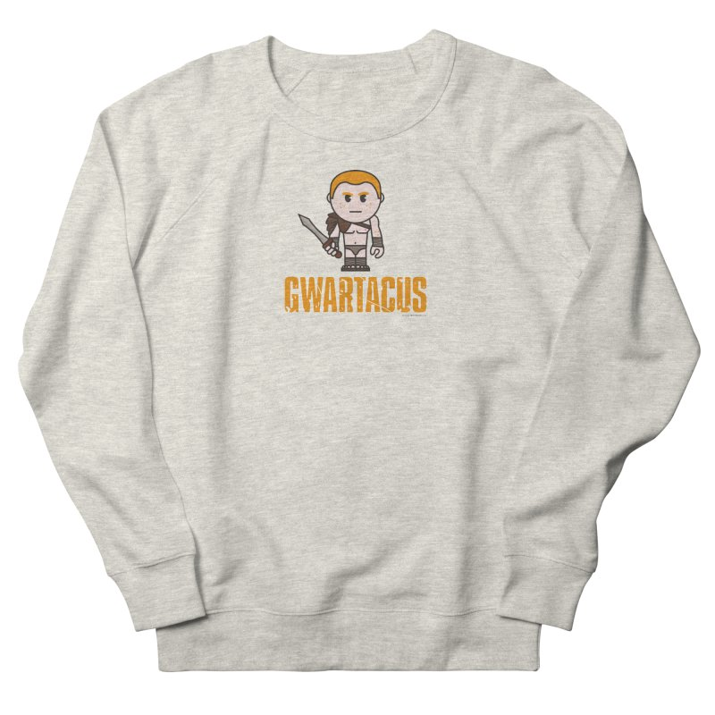 Gwartacus in Men's French Terry Sweatshirt Heather Oatmeal by Ginger With Attitude's Artist Shop