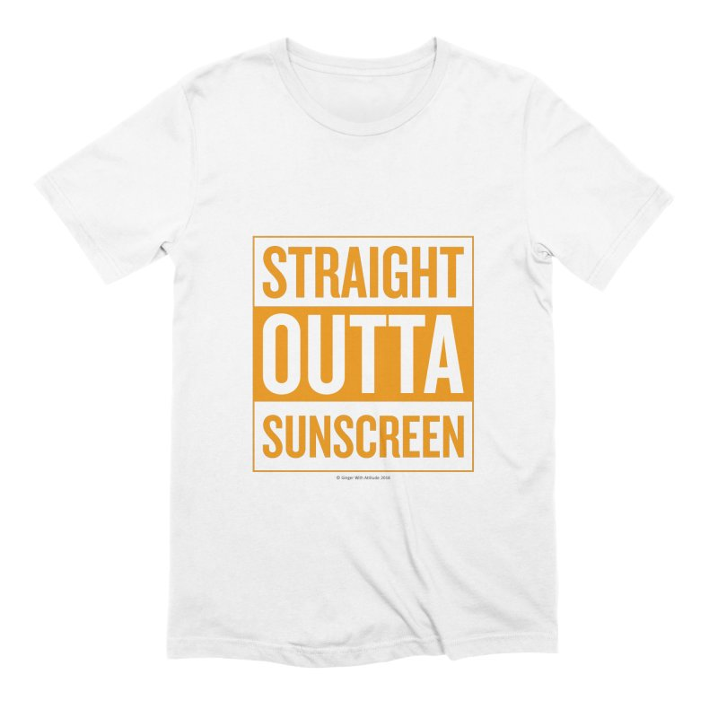 SunScreen Men's Extra Soft T-Shirt by Ginger With Attitude's Artist Shop