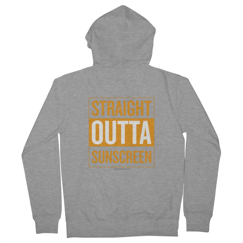 SunScreen Men's French Terry Zip-Up Hoody by Ginger With Attitude's Artist Shop
