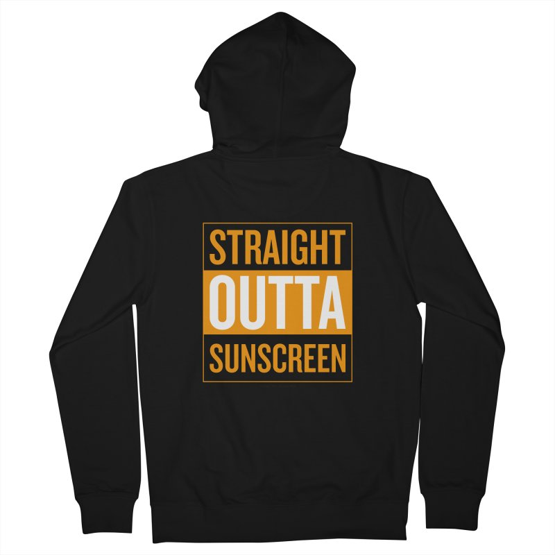 SunScreen Men's Zip-Up Hoody by Ginger With Attitude's Artist Shop