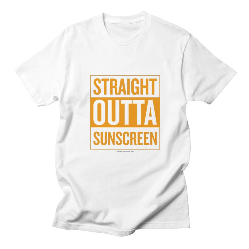 SunScreen Men's Regular T-Shirt by Ginger With Attitude's Artist Shop