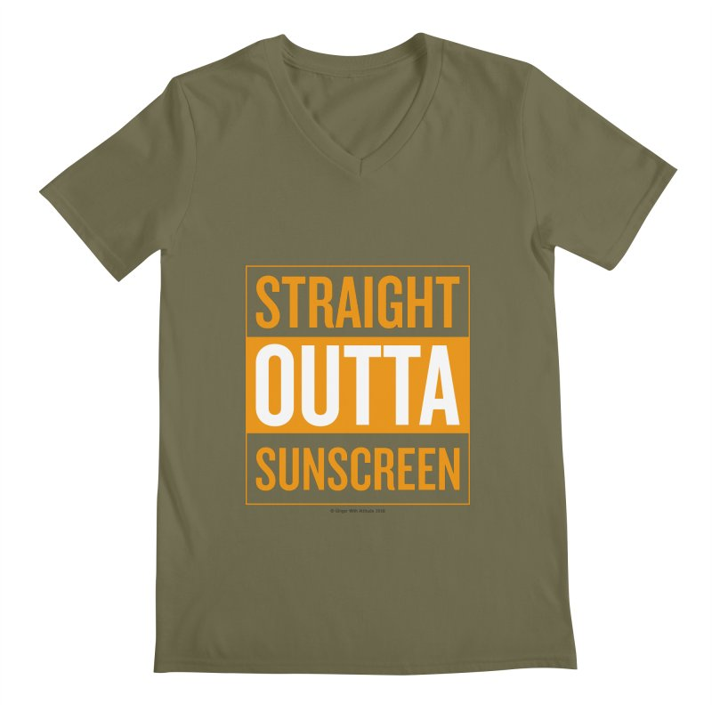 SunScreen Men's V-Neck by Ginger With Attitude's Artist Shop