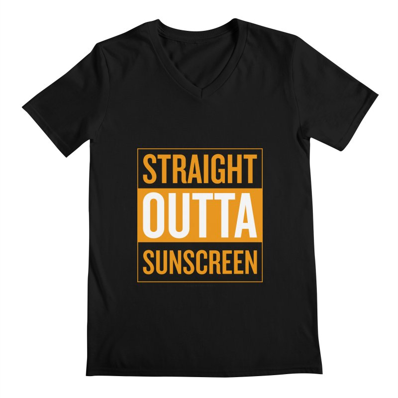 SunScreen Men's Regular V-Neck by Ginger With Attitude's Artist Shop