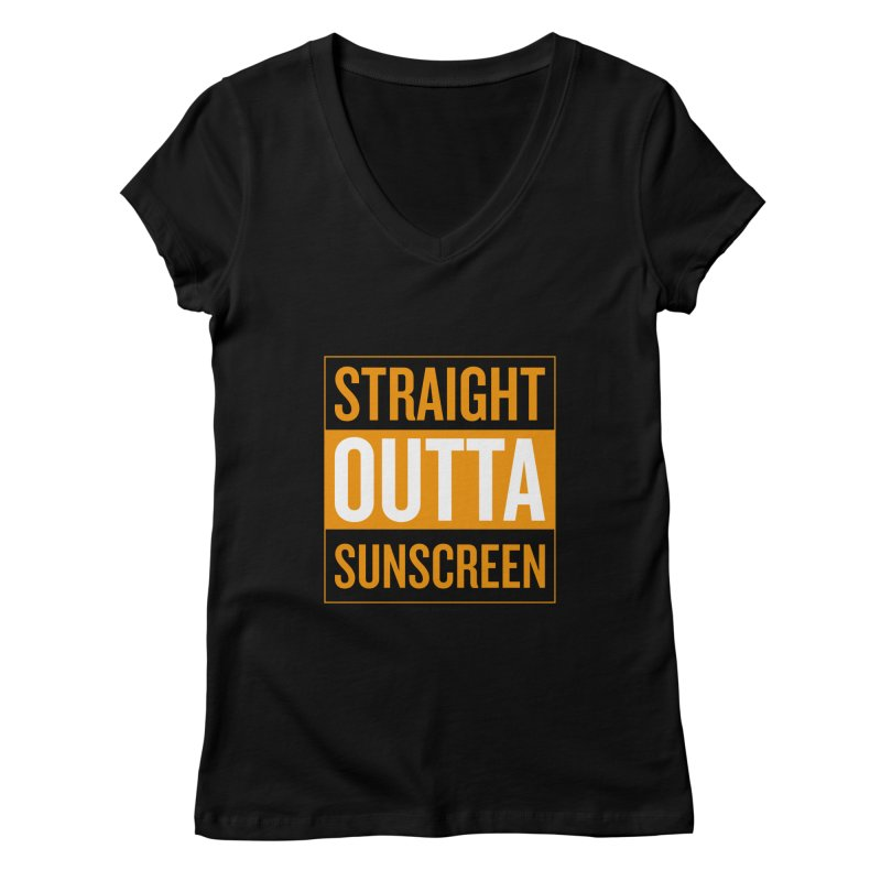 SunScreen Women's V-Neck by Ginger With Attitude's Artist Shop