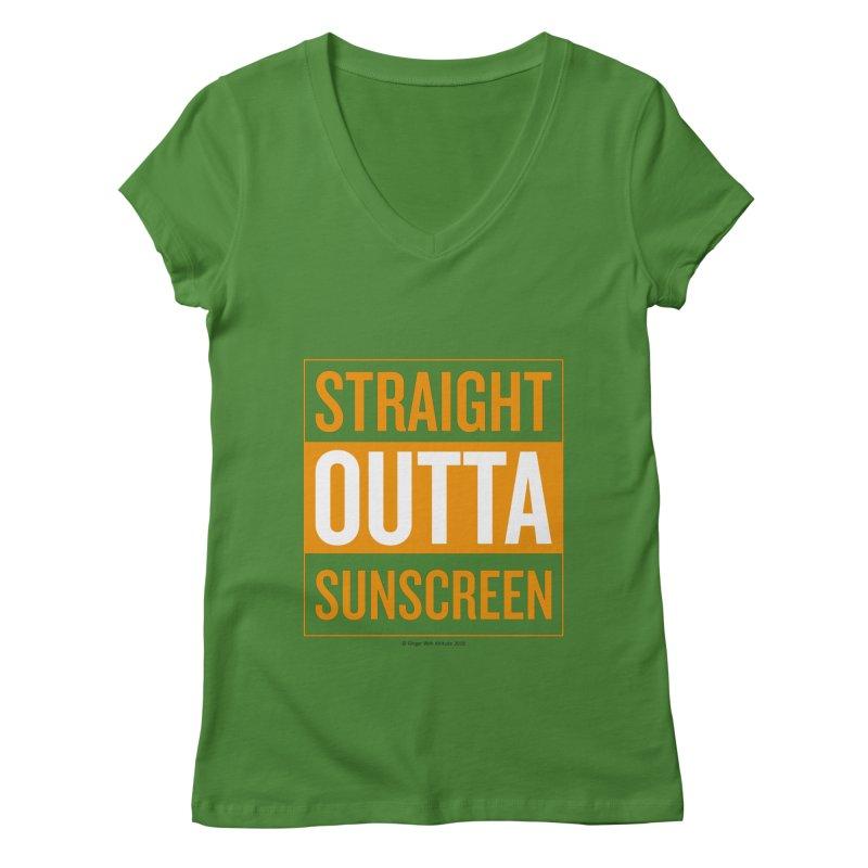 SunScreen Women's Regular V-Neck by Ginger With Attitude's Artist Shop