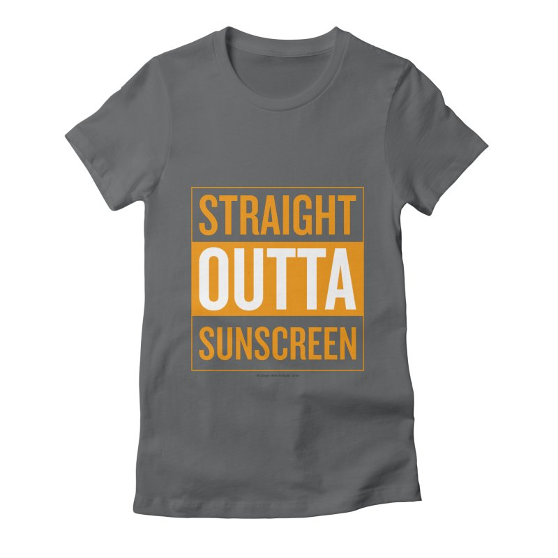 SunScreen Women's Fitted T-Shirt by Ginger With Attitude's Artist Shop