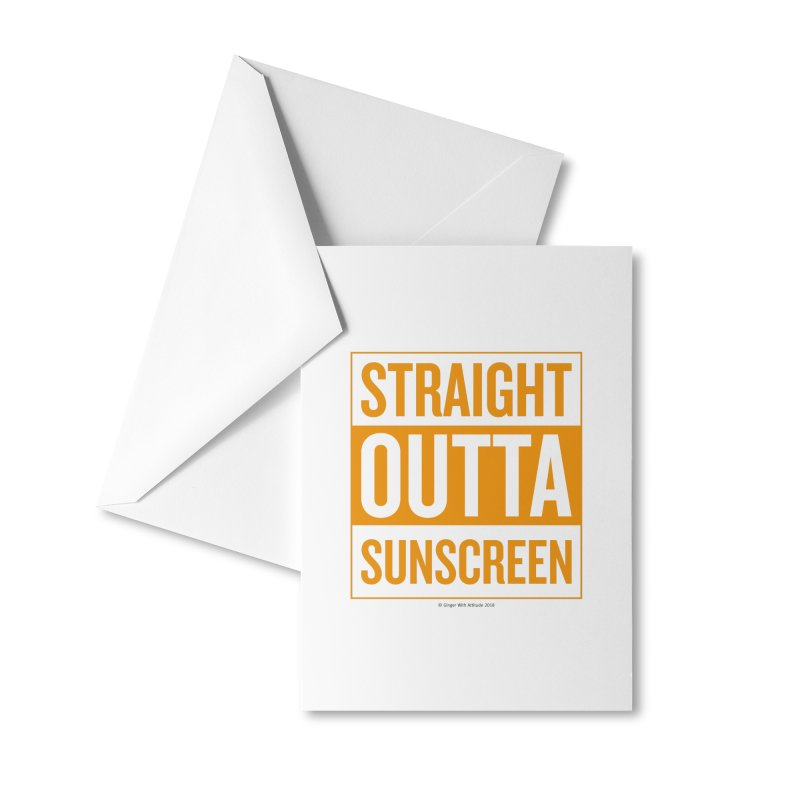 SunScreen Accessories Greeting Card by Ginger With Attitude's Artist Shop